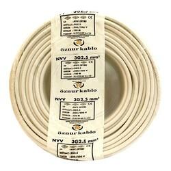 ÖZNUR - Öznur 3x2,5 TTR Beyaz Kabo H05VV-F