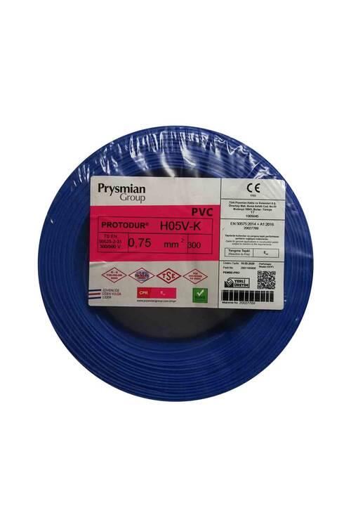 Prysmian 0,75mm Mavi Nyaf Çok Tellİ Kablo H05V-K