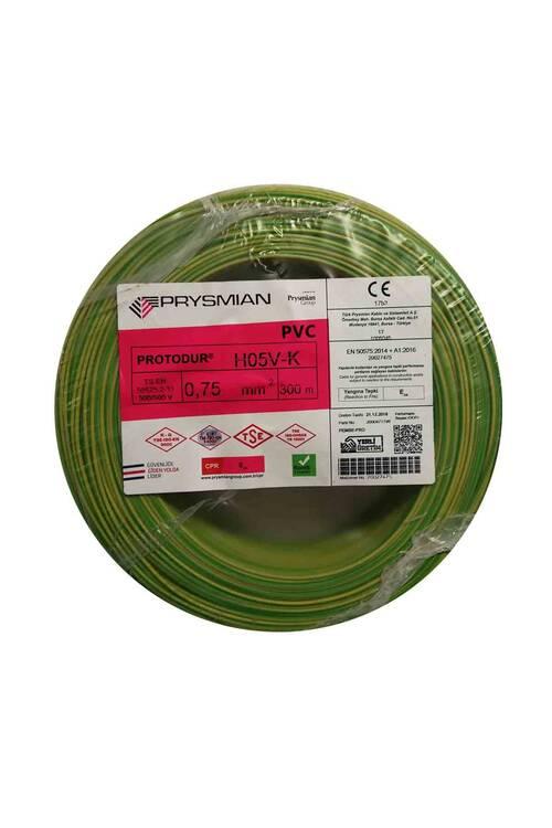Prysmian 0,75mm Sarı Yeşil Nyaf Çok Telli Topraklama Kablo H05V-K