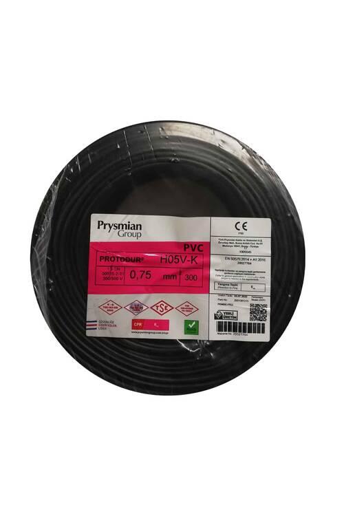 Prysmian 0,75mm Siyah Nyaf Çok Tellİ Kablo H05V-K