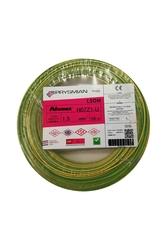 Prysmian - Prysmian 1,5mm Sarı Yeşil Nya Yanmaz Halogen Free Topraklama Kablo H07Z1-U