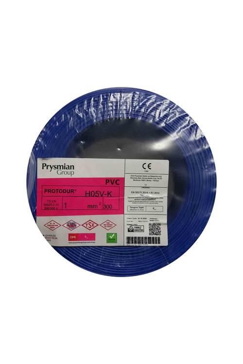Prysmian 1mm Mavi Nyaf Çok Tellİ Kablo H05V-K