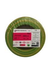 PRYSMIAN - Prysmian 1mm Sarı-Yeşil Nya Tek Damarlı Kablo H05V-U