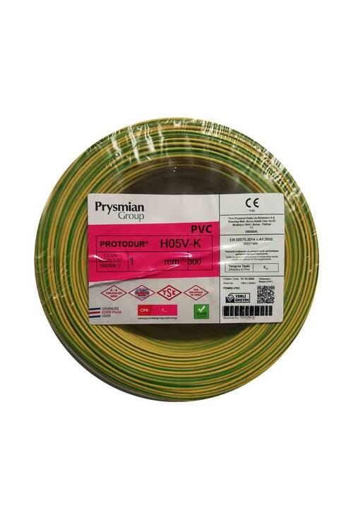 Prysmian 1mm Sarı Yeşil Nyaf Çok Telli Topraklama Kablo H05V-K