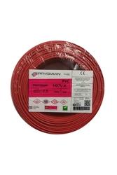 PRYSMIAN - Prysmian 2,5mm Kırmızı Nyaf Çok Telli Kablo H07V-K