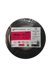 Prysmian - Prysmian 2,5mm Siyah Nya Yanmaz Halogen Free Kablo H07Z1-U