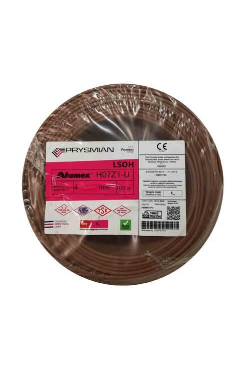 Prysmian 4mm Kahverengi Nya Yanmaz Halogen Free Kablo H071-U