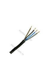 PRYSMIAN - Prysmian 4x2,5mm TTR Siyah Kablo H05VV-F